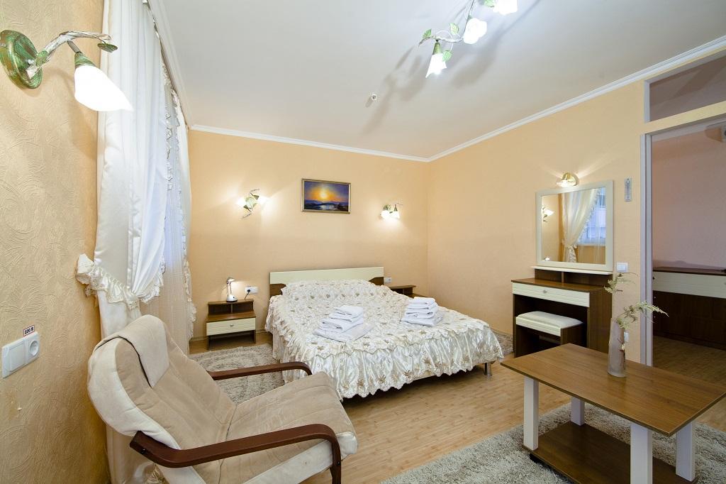 2комнатный 2местный люкс-студио спальня
